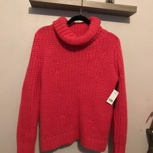 BR Italian Merino Wool Pink Oversized turtleneck